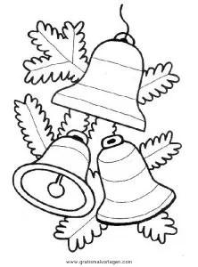 Glocke 43 gratis Malvorlage in Glocke Weihnachten - ausmalen