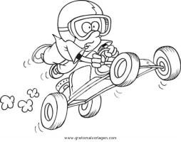 gokart 1 gratis Malvorlage in Autos, Transportmittel ...