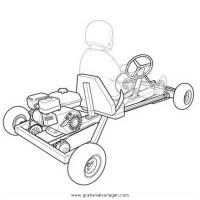 gokart 3 gratis Malvorlage in Autos, Transportmittel ...