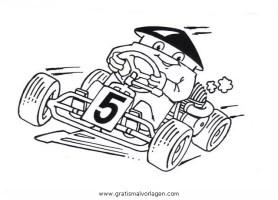 gokart 5 gratis Malvorlage in Autos, Transportmittel ...