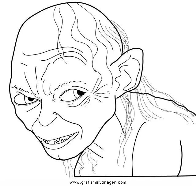 Gollum Gratis Malvorlage In Beliebt05 Diverse Malvorlagen