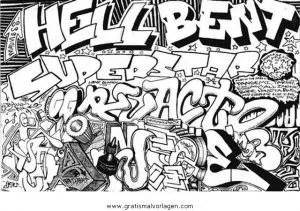 Graffiti grafiti 12 gratis Malvorlage in Diverse