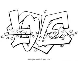 Graffiti grafiti 16 gratis Malvorlage in Diverse