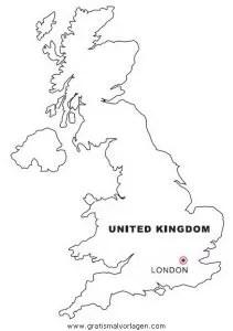 Landkarte England gratis Malvorlage in Geografie
