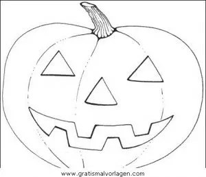 Kürbis Halloween Malvorlage