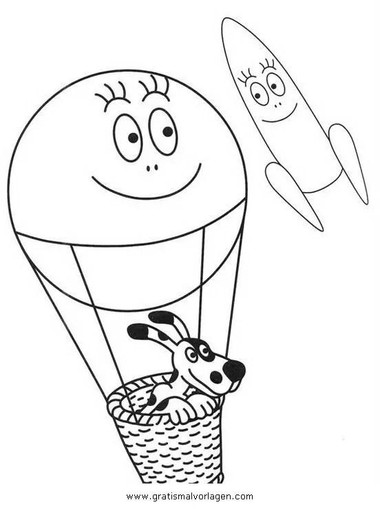Heissluftballon 2 gratis Malvorlage in Flugzeuge