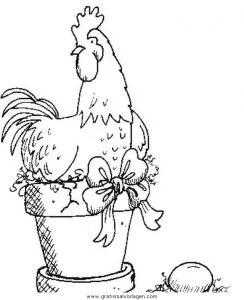 Huhn gratis Malvorlage in Diverse Malvorlagen Garten