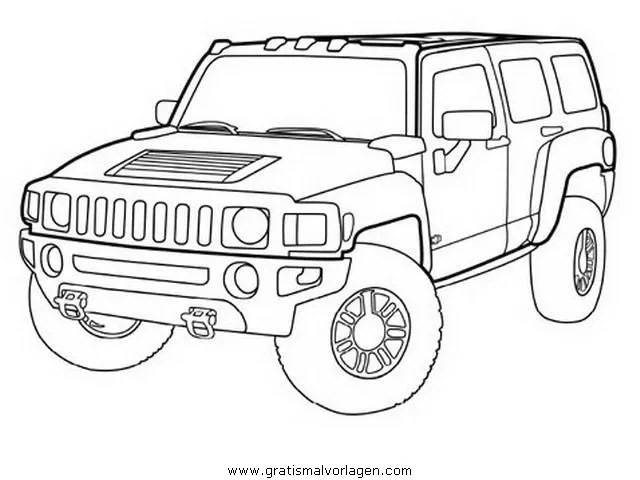 2003 Hummer H2 Drawing Sketch Coloring Page