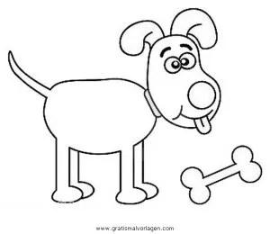 Hundeknochen 3 gratis Malvorlage in Beliebt04 Diverse