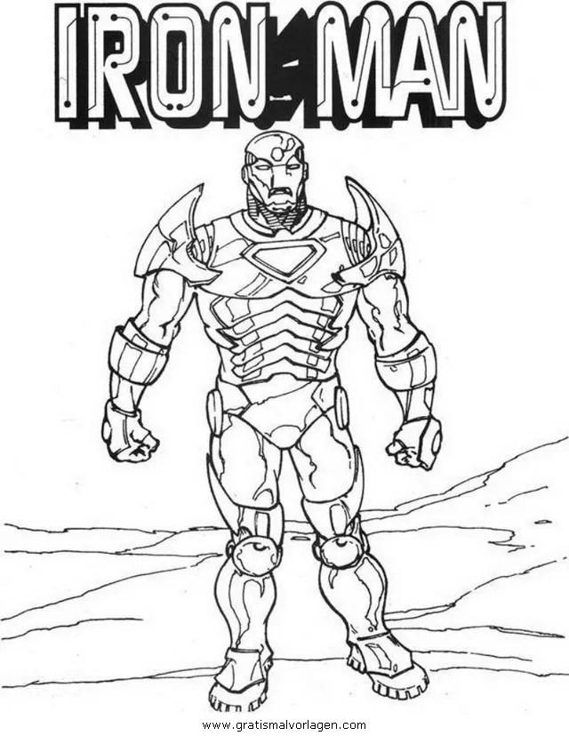 Iron man 01 gratis Malvorlage in Comic & Trickfilmfiguren
