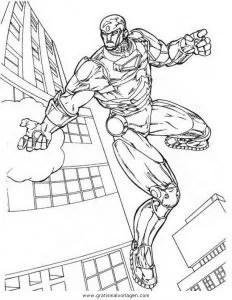 Iron man 03 gratis Malvorlage in Comic & Trickfilmfiguren
