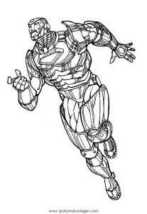 Iron man 15 gratis Malvorlage in Comic & Trickfilmfiguren