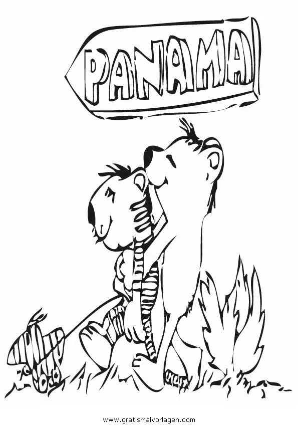 Janosch 22 gratis Malvorlage in Comic & Trickfilmfiguren