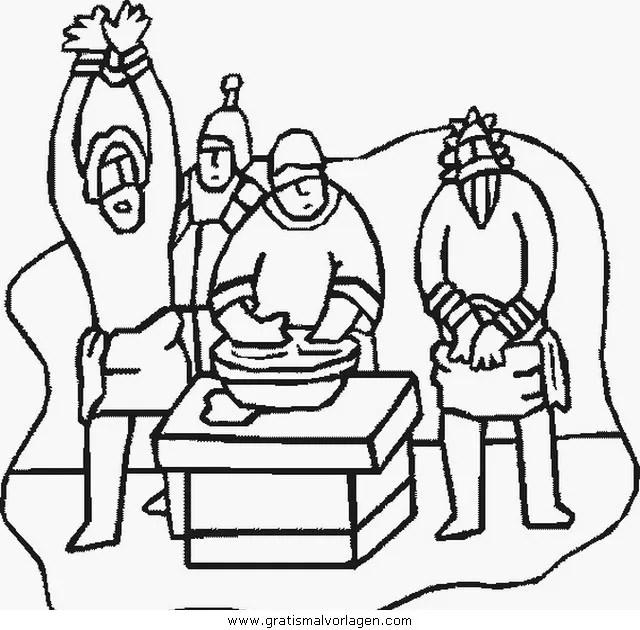 Jesus 029 gratis Malvorlage in Jesus Religionen - ausmalen