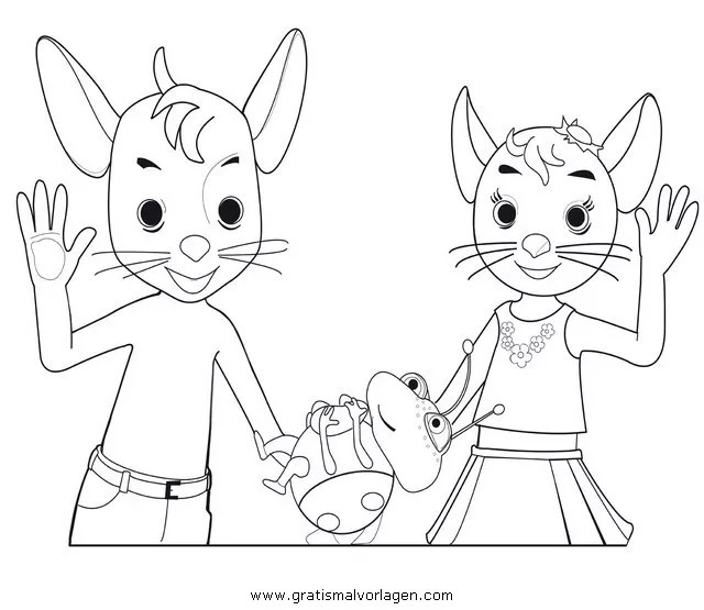jonalu 4 gratis Malvorlage in Comic  Trickfilmfiguren