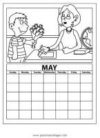 kalender 03 gratis Malvorlage in Diverse Malvorlagen ...