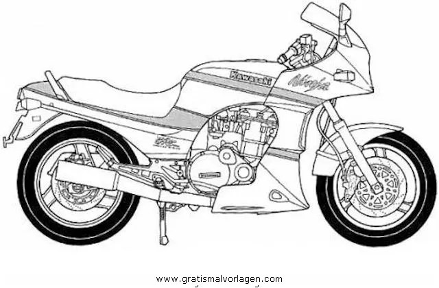 Kawasaki gpz900r ninja gratis Malvorlage in Motorrad