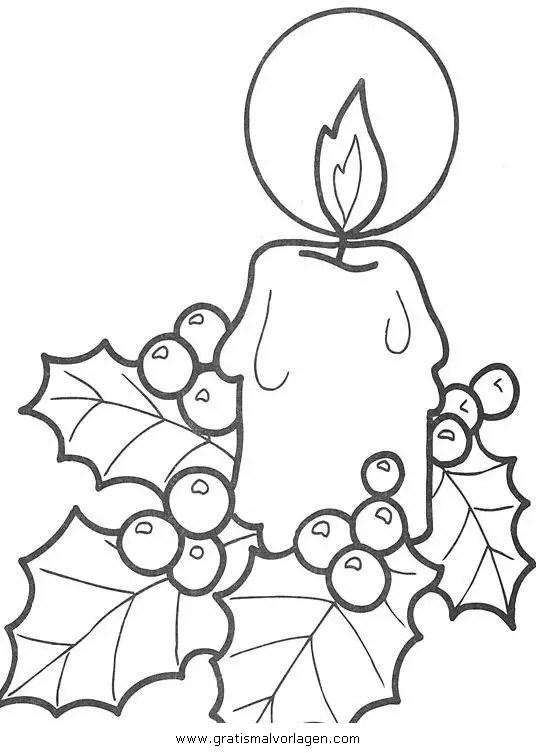 Kerze 10 gratis Malvorlage in Kerzen Weihnachten - ausmalen