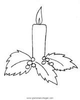 kerze 12 gratis Malvorlage in Kerzen, Weihnachten   ausmalen