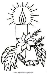 Kerze 34 gratis Malvorlage in Kerzen Weihnachten - ausmalen
