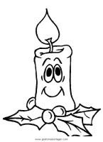 kerze 37 gratis Malvorlage in Kerzen, Weihnachten   ausmalen