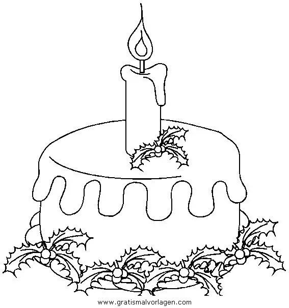 Kerze 38 gratis Malvorlage in Kerzen Weihnachten - ausmalen