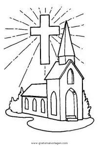 Kirche 3 gratis Malvorlage in Diverse Malvorlagen Häuser