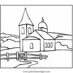 Kirche 5 gratis Malvorlage in Diverse Malvorlagen Häuser