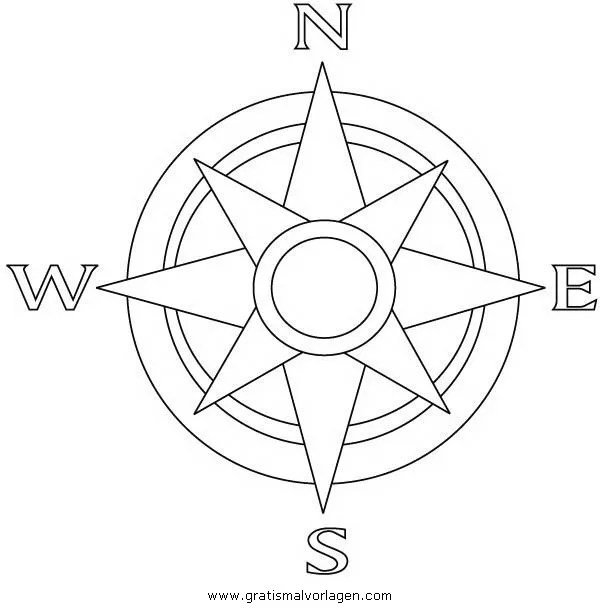 Kompass 1 gratis Malvorlage in Beliebt03 Diverse