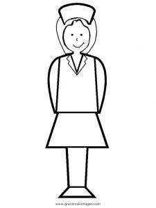 Krankenschwester 14 gratis Malvorlage in Diverse