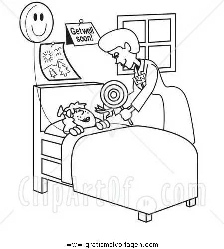Krankenschwester 16 gratis Malvorlage in Diverse