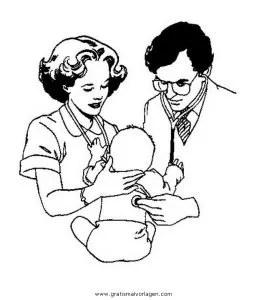 Malvorlage Krankenschwester