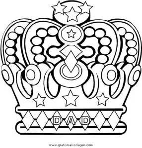 Kronen 3 gratis Malvorlage in Könige Königinnen Menschen