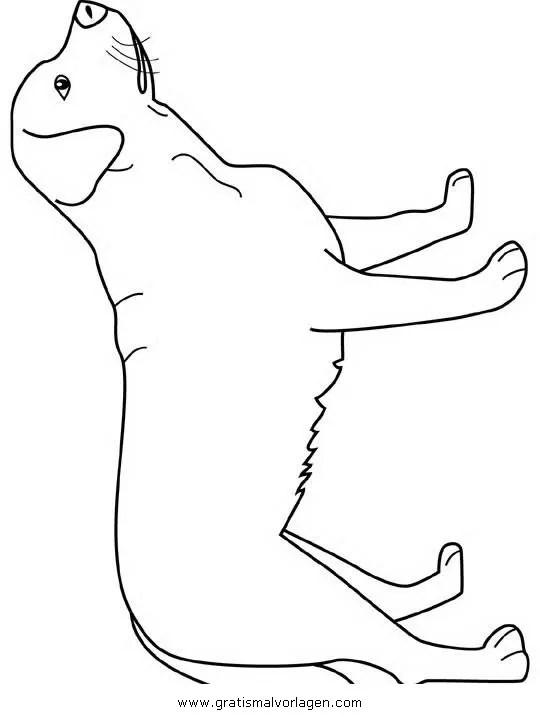 Labrador gratis Malvorlage in Hunde Tiere - ausmalen