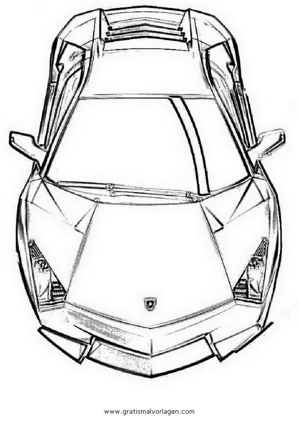 Lamborghini 02 gratis Malvorlage in Autos2