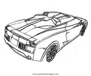 Lamborghini 06 gratis Malvorlage in Autos2