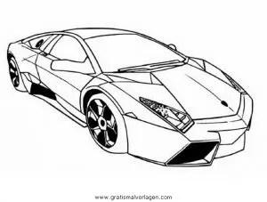 Lamborghini 10 gratis Malvorlage in Autos2