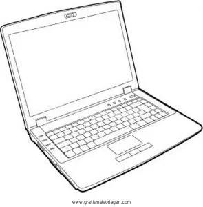 laptop 2 gratis Malvorlage in Computer, Diverse