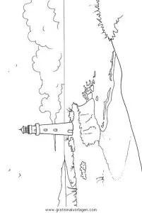 Leuchtturm gratis Malvorlage in Diverse Malvorlagen