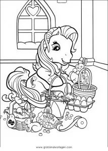 Little pony 64 gratis Malvorlage in Comic