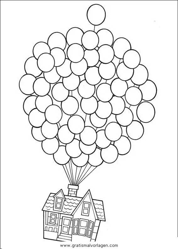 Luftballon 26 gratis Malvorlage in Feste Geburtstag