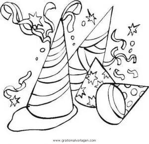 Luftschlangen 04 gratis Malvorlage in Feste Silvester