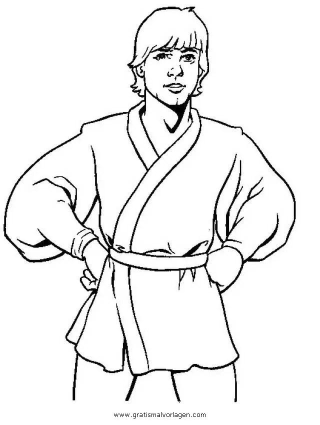 Luke skywalker 01 gratis Malvorlage in Science Fiction
