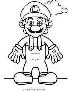 Mario bros 20 gratis Malvorlage in Comic