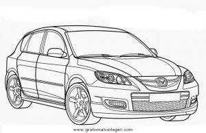 Mazda 3 gratis Malvorlage in Autos2 Transportmittel