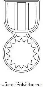 Medaille 2 gratis Malvorlage in Beliebt03 Diverse