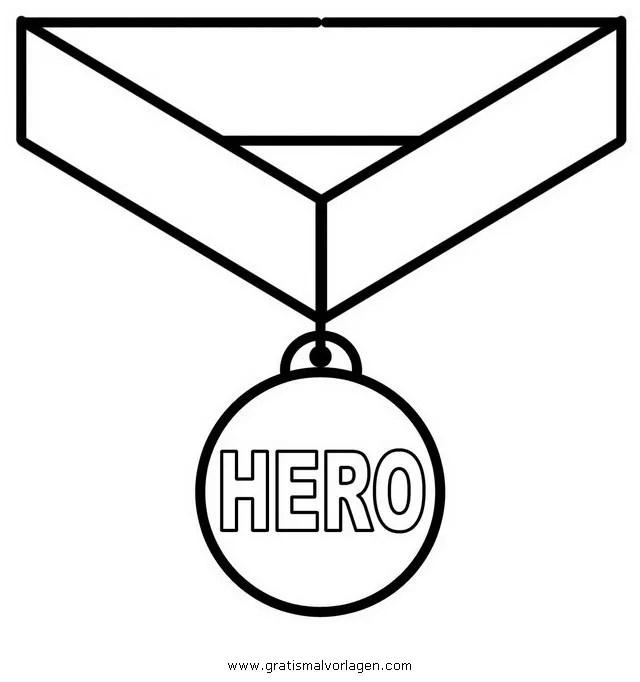 Medaille Malvorlage