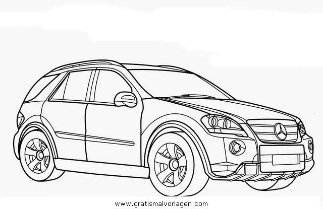 mercedes ml gratis Malvorlage in Autos2, Transportmittel