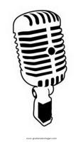 mikrofon0 gratis Malvorlage in Beliebt04, Diverse ...