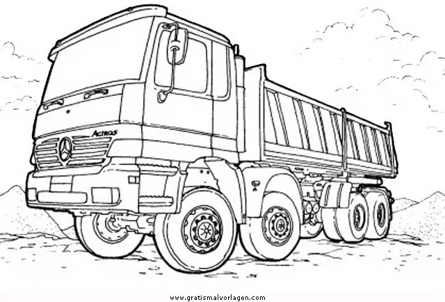 Monstertruck 3 gratis Malvorlage in Lastwagen